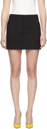 DSQUARED2 Black Tropical Wool Miniskirt