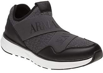 Armani Jeans Men's Knit Sneaker Logo Elastic Band
