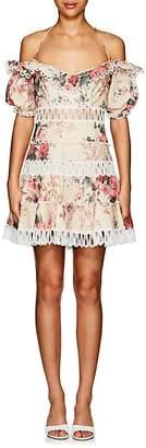 Zimmermann Women's Melody Floral Linen-Cotton Dress