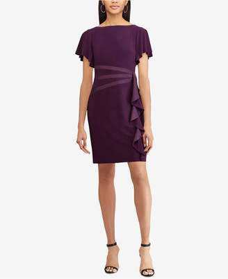 American Living Satin-Trim Ruffled Dress
