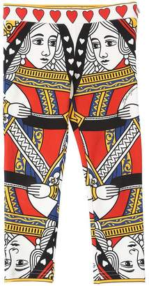 Dolce & Gabbana Queen Of Hearts Cotton Leggings