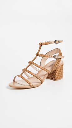 Schutz Clarcie Block Heel Woven Sandals