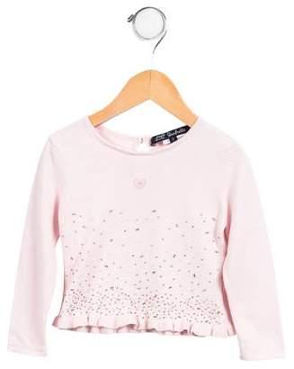 Lili Gaufrette Girls' Embellished Sweater