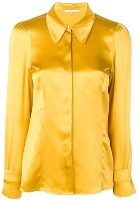 72c57deff64349 Yellow Satin Top - ShopStyle