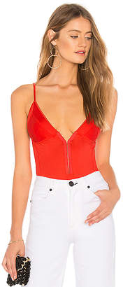 Fleur Du Mal Sexy Cotton Triangle Bodysuit