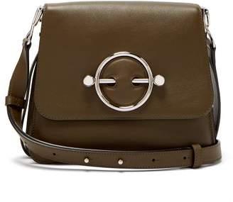 J.W.Anderson Disc Leather Cross Body Bag - Womens - Khaki