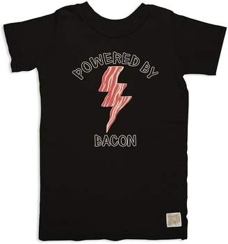 Original Retro Brand Boys' Powered By Bacon Tee