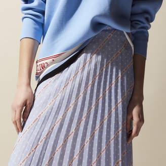 Sandro Keep on Dancing printed mid-length skirt
