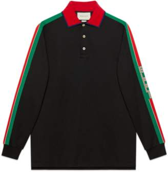 Gucci Cotton polo with stripe