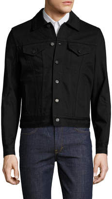 Givenchy Distressed Spread Collar Denim Jacket