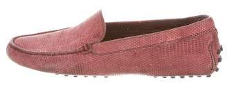Tod's Embossed Leather Driving Loafers