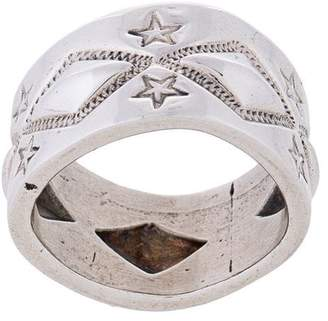 Sanderson Cody wide engraved ring