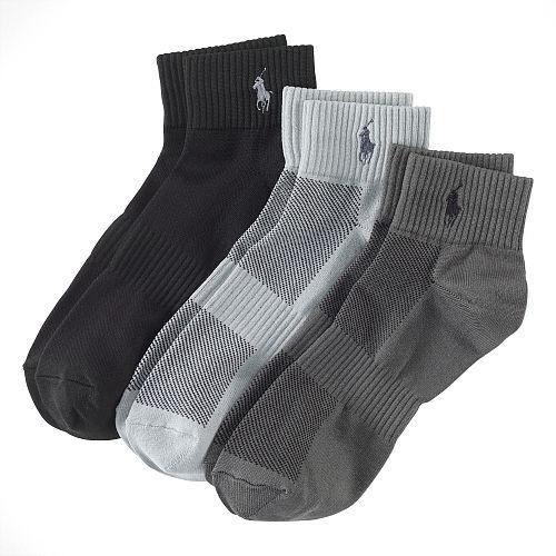 Polo Ralph Lauren Quarter Sport Sock 3-Pack