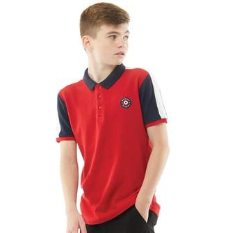 Ben Sherman Junior Boys Micro Waffle Cut And Sew Polo Chilli Red