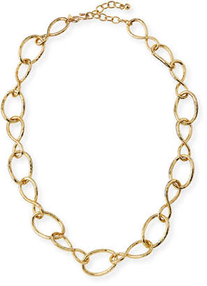 """Kenneth Jay Lane Twisted Open Link Necklace, 30"""""""