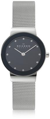 Skagen Freja Black Stainless Steel Mesh Bracelet Women's Watch $128 thestylecure.com