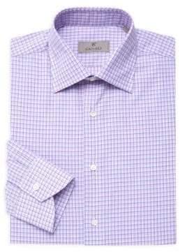 Canali Double Check Cotton Dress Shirt