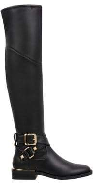 GUESS Dalary Buckle Knee-High Riding Boots