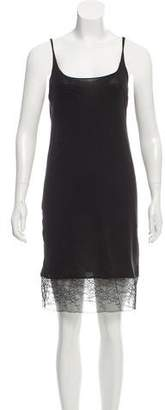 Raquel Allegra Slip Lace-Accented Dress w/ Tags