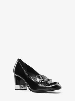 Michael Kors Carrie Spazzolato Leather Pump