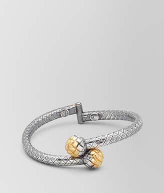 Bottega Veneta ANTIQUE SILVER/YELLOW GOLD PATINA DICHOTOMY BRACELET