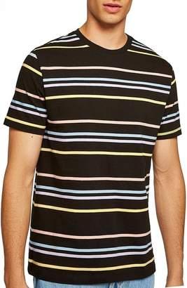 Topman Classic Fit Rainbow Stripe T-Shirt