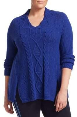 Marina Rinaldi Marina Rinaldi, Plus Size Marina Sport Agio Cable Knit Sweater