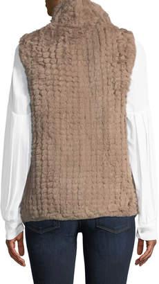 Metric Furs Faux-Fur Shawl-Collar Vest
