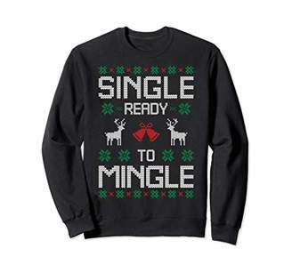 Single Ready To Mingle Reindeer Ugly Christmas Sweater Gift