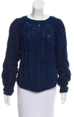 Ulla Johnson Cable Knit Crew Neck Sweater