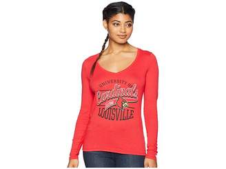 Champion College Louisville Cardinals Long Sleeve V-Neck Tee Women's T Shirt