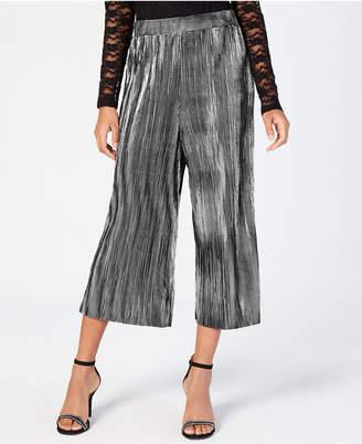 Material Girl Juniors' Pleated Metallic Crop Pants