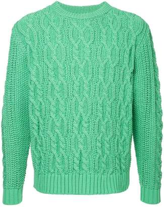 Coohem stretch cable knit sweater