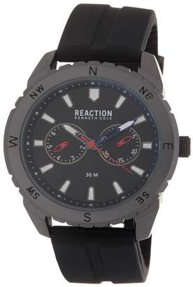 Kenneth Cole Reaction Men's Black 3 Hand Watch, 46mm