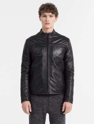 Calvin Klein leather zip biker jacket