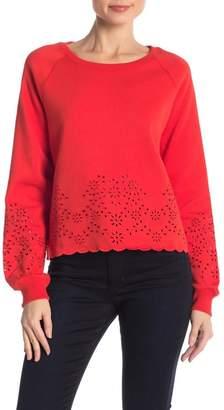 Rebecca Minkoff Morgan Floral Embroidered Sweatshirt