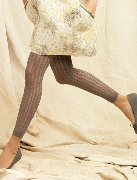 Pointelle Footless Tights