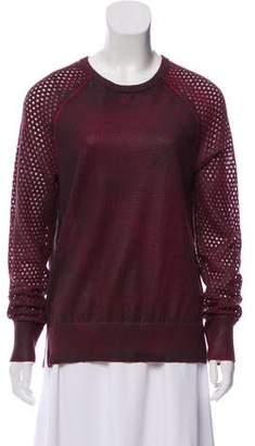 Edun Wool Crochet-Accented Sweater