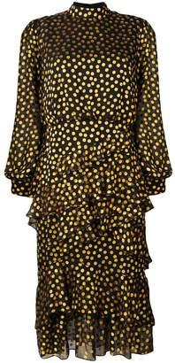 4d76b1973511 Saloni Black Ruffled Dresses - ShopStyle