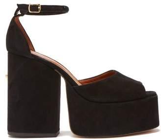 Osman Gesa Suede Platform Sandals - Womens - Black
