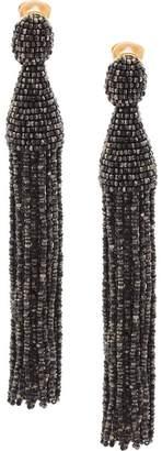 Oscar de la Renta long bead tassel earrings