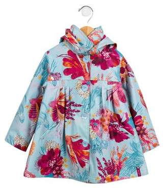 Catimini Girls' Printed Rain Coat