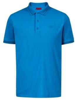 HUGO Boss Regular-fit cotton polo shirt contrast tipping XL Blue