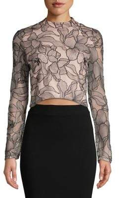 WAYF Floral Cropped Top