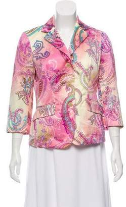 Etro Tailored Paisley Print Blazer