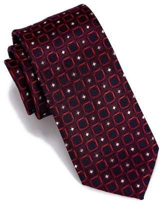 Perry Ellis Seneca Geo Print Tie