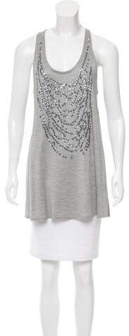 Christian Dior Sequined Silk Top