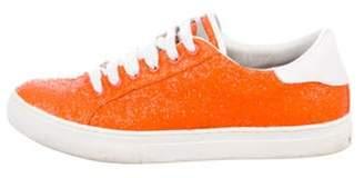 Marc Jacobs Glitter Low-Top Sneakers Orange Glitter Low-Top Sneakers