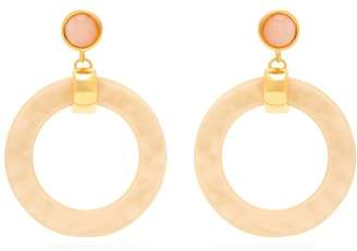 Lizzie Fortunato Sun Bleached Hoop Earrings - Womens - White
