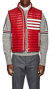 Thom Browne Men's Striped Down Puffer Vest - Red